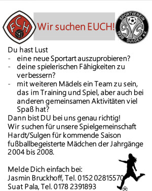 Flyer Juniorinnen