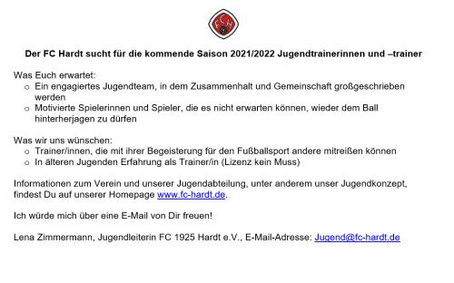 Trainersuche Saison 2021_22
