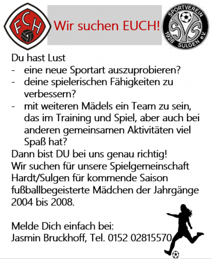 Flyer Juniorinnen mit SV Sulgen